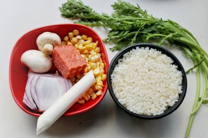 蘑菇炒饭的做法大全