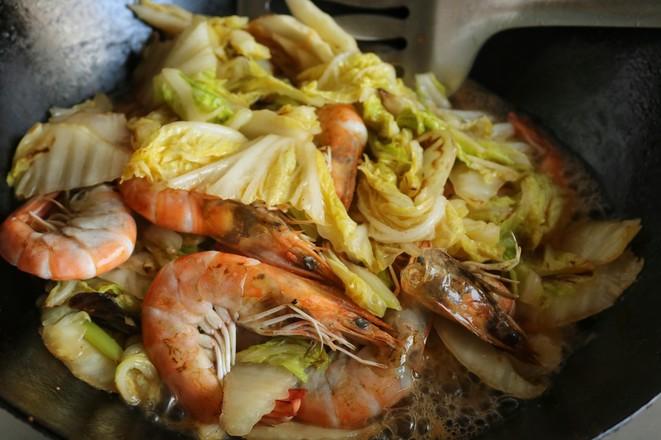 白菜炒虾怎么做
