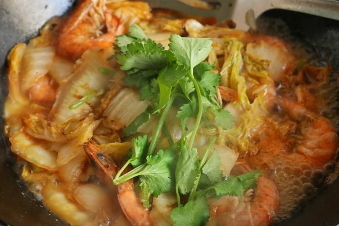 白菜炒虾怎么炒