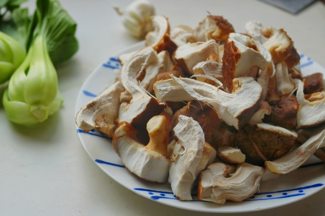 香菇炒油菜的做法图解