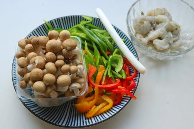 海鲜菇炒虾仁的做法大全