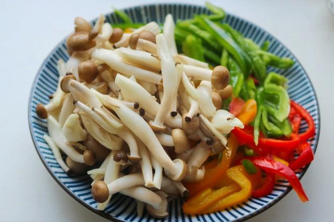 海鲜菇炒虾仁的做法图解