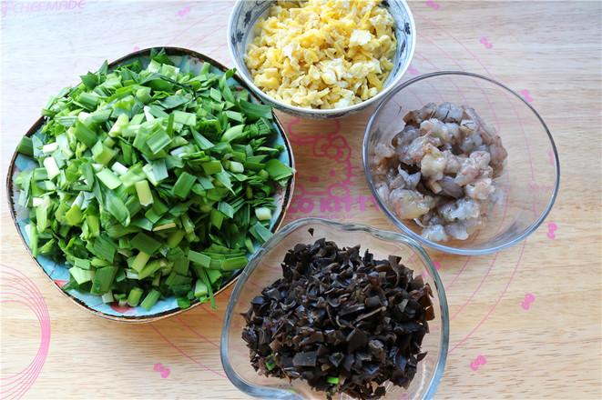 荞麦面鸡蛋虾仁饺子的家常做法