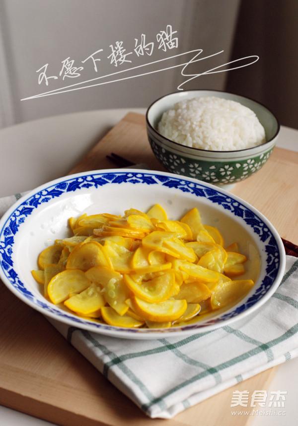 清炒香蕉西葫芦成品图