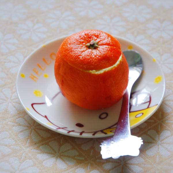 鲜橙蒸蛋成品图