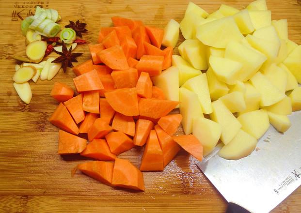土豆胡萝卜炖牛腩的做法图解