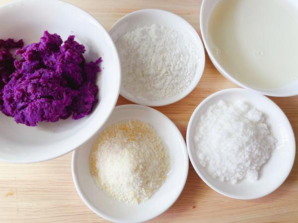 椰蓉紫薯牛奶小方的做法大全