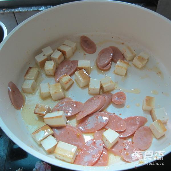 豆腐丁炒火腿怎么吃