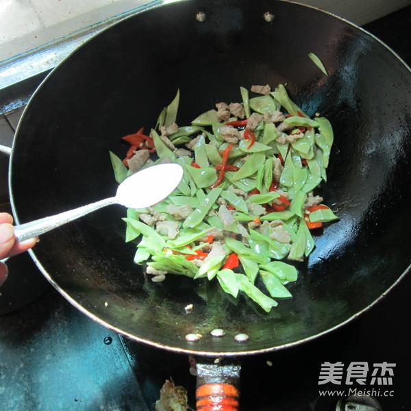 扁豆炒肉的步骤