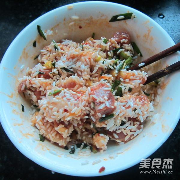 葱香猪肉糯米粽怎么炒