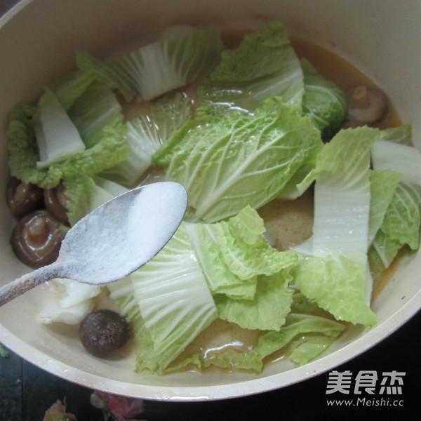 白菜煮香菇怎么吃