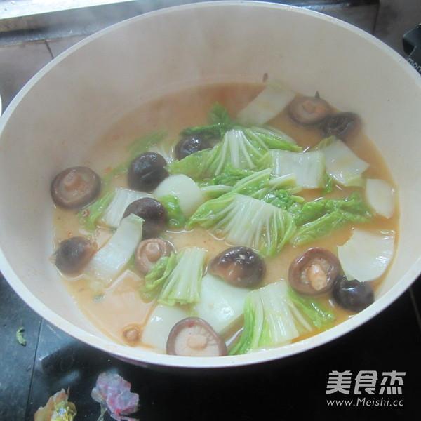 白菜煮香菇怎么炖