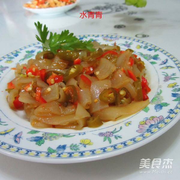 酸辣椒拌玉米粉皮怎么炒