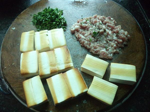猪肉韭菜馅豆腐盒子的做法图解