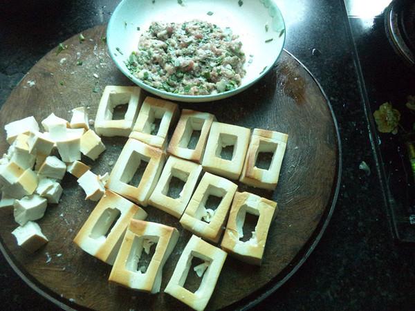 猪肉韭菜馅豆腐盒子的家常做法