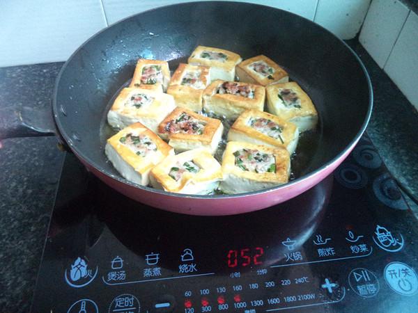 猪肉韭菜馅豆腐盒子怎么做