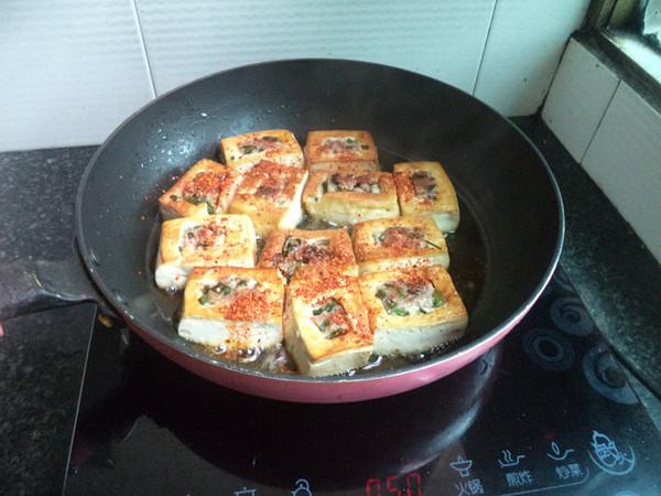 猪肉韭菜馅豆腐盒子怎么炒