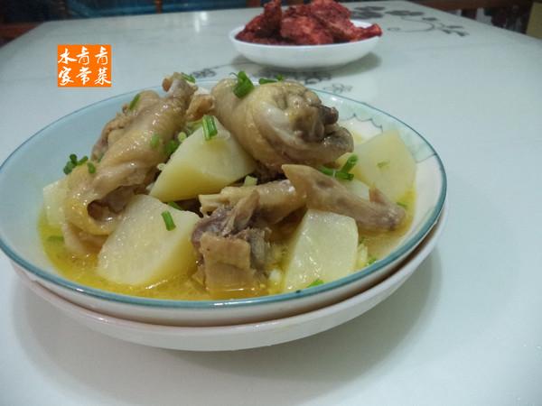 土豆三黄鸡怎么煸