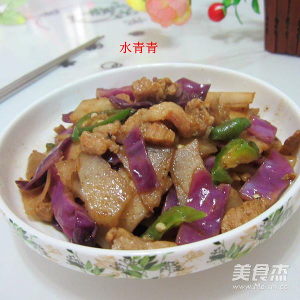 凉薯紫甘蓝炒肉怎么煸