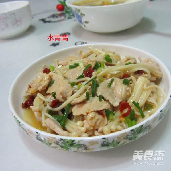 金针菇炒肉片怎么煮