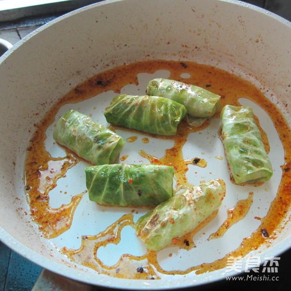 香煎翠绿包菜卷怎样做
