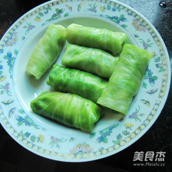 香煎翠绿包菜卷怎么煮
