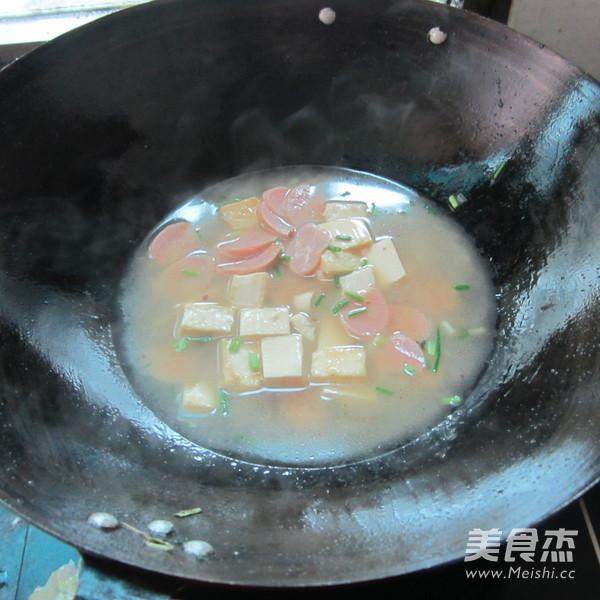 火腿豆腐汤怎么煮