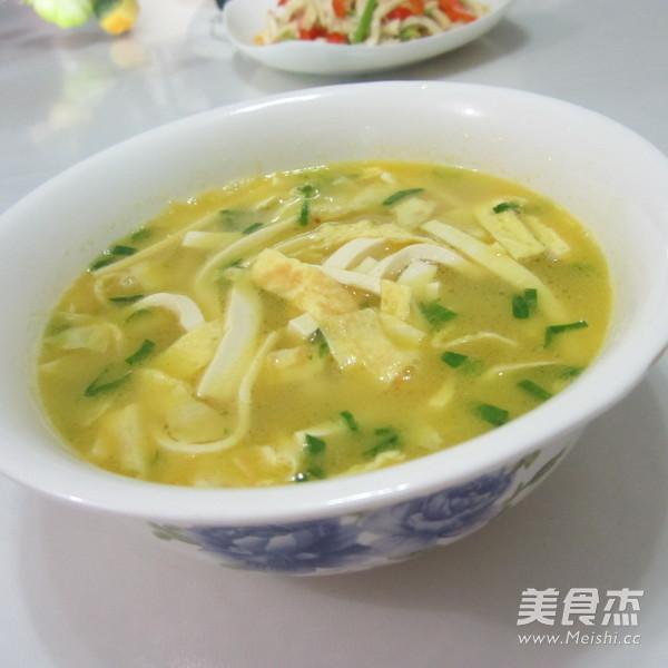 蛋丝豆腐汤成品图