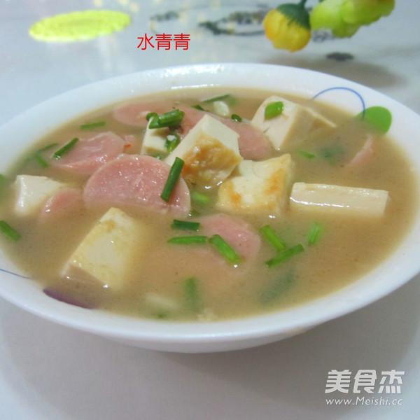 火腿豆腐汤怎么炖