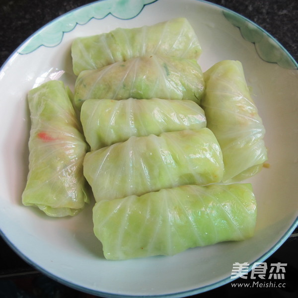翡翠包菜肉卷怎么煮