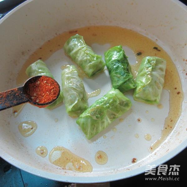 香煎翠绿包菜卷怎样煸