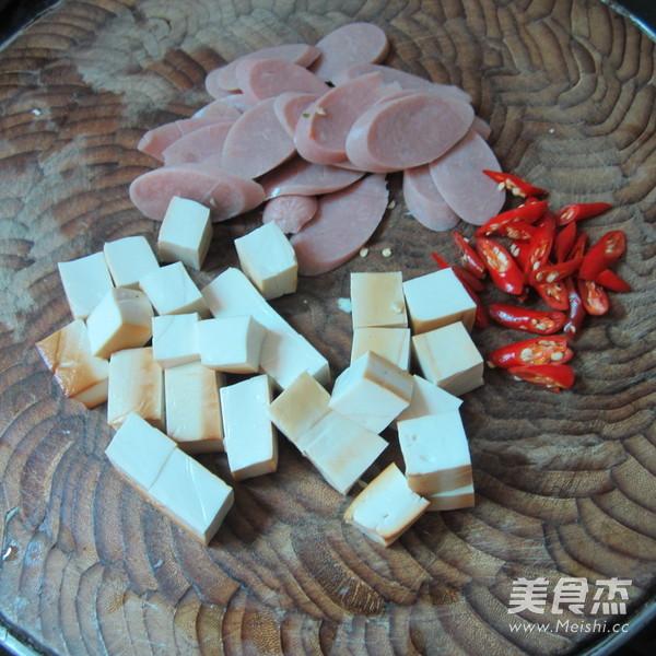 豆腐丁炒火腿的做法图解
