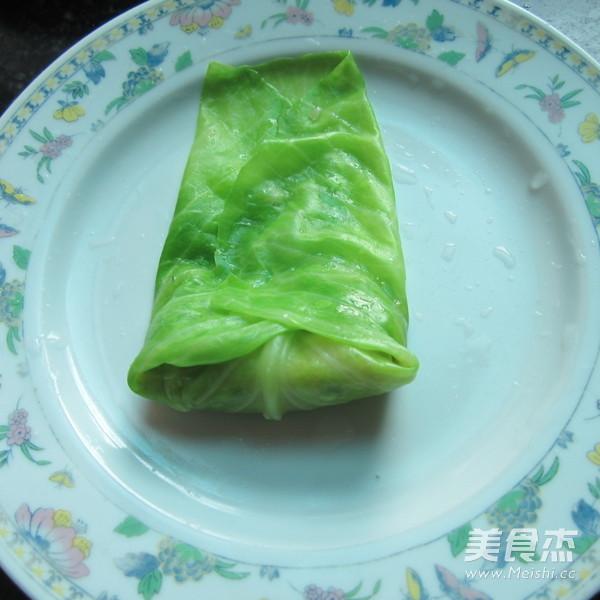 香煎翠绿包菜卷怎么做