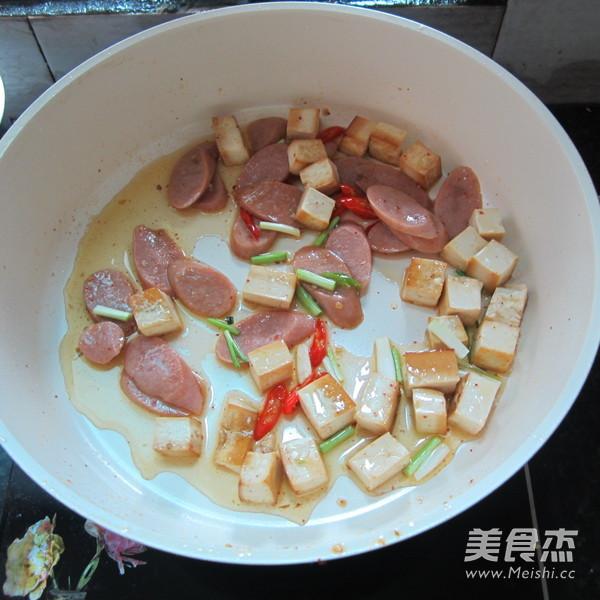 豆腐丁炒火腿怎么炖