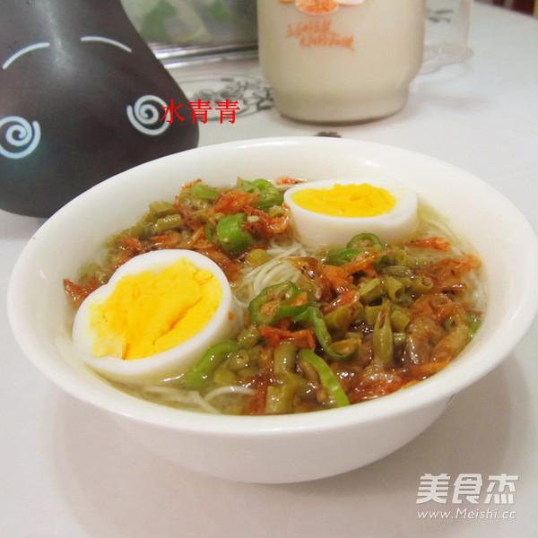酸豆角虾米挂面怎样炒