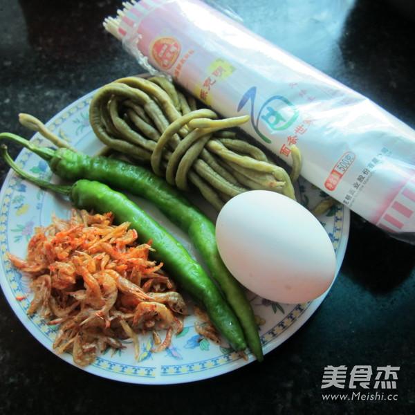 酸豆角虾米挂面的做法大全