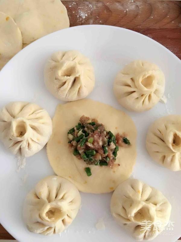 南瓜面豇豆包子的步骤