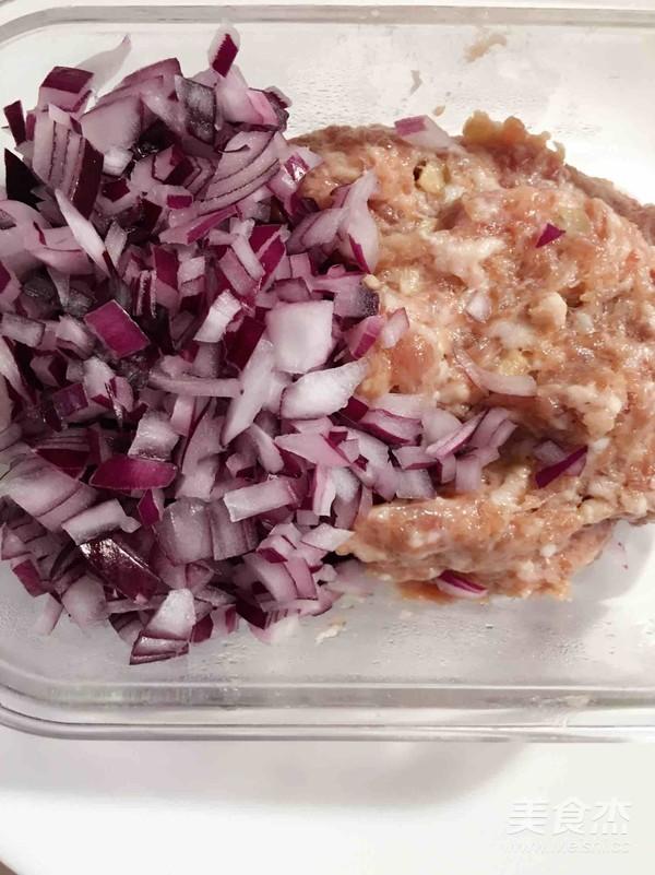 紫薯面肉饼的家常做法