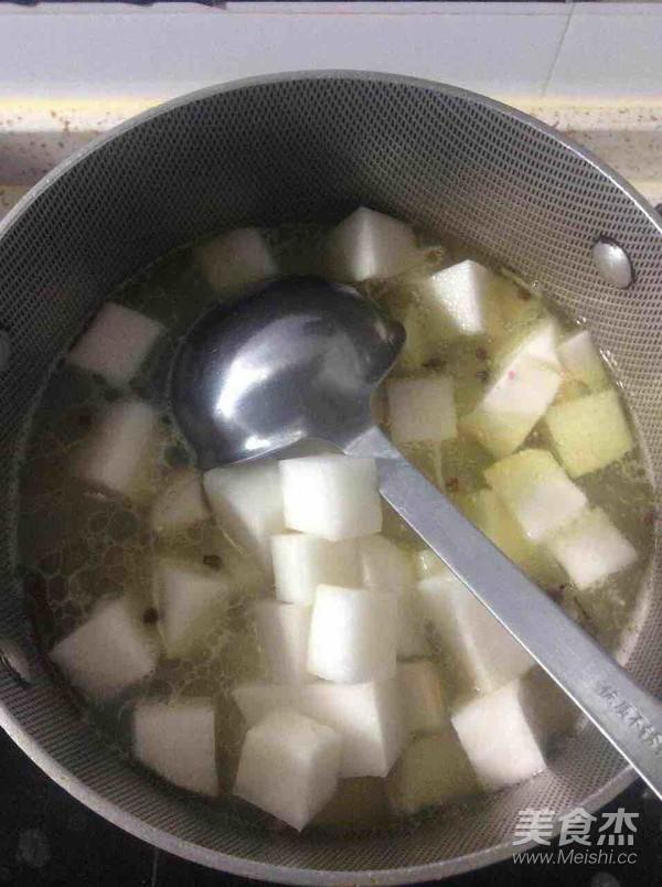 羊排萝卜汤的步骤