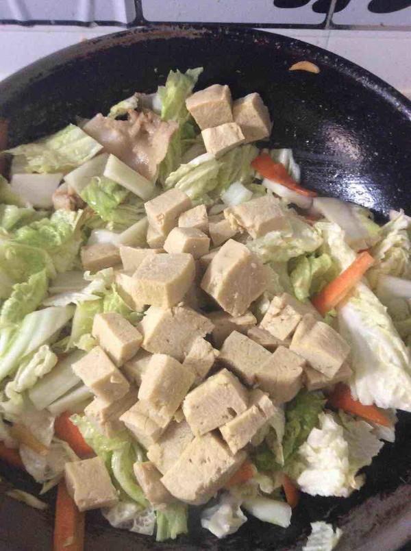 大白菜炖冻豆腐怎么煮
