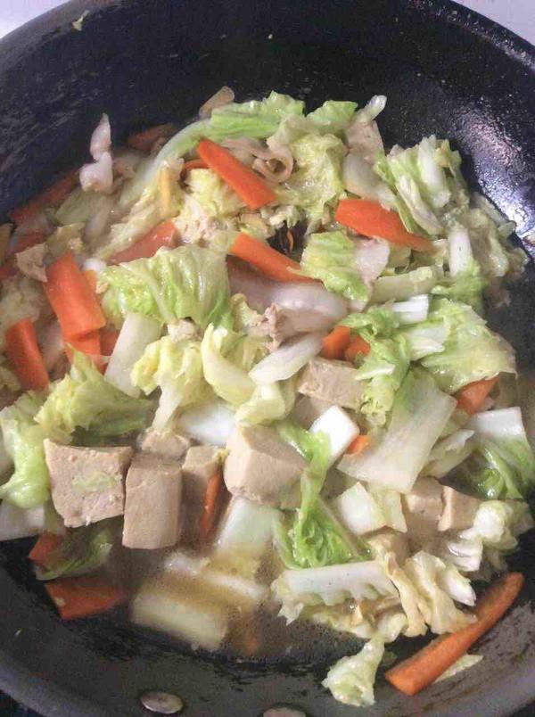 大白菜炖冻豆腐怎么炖