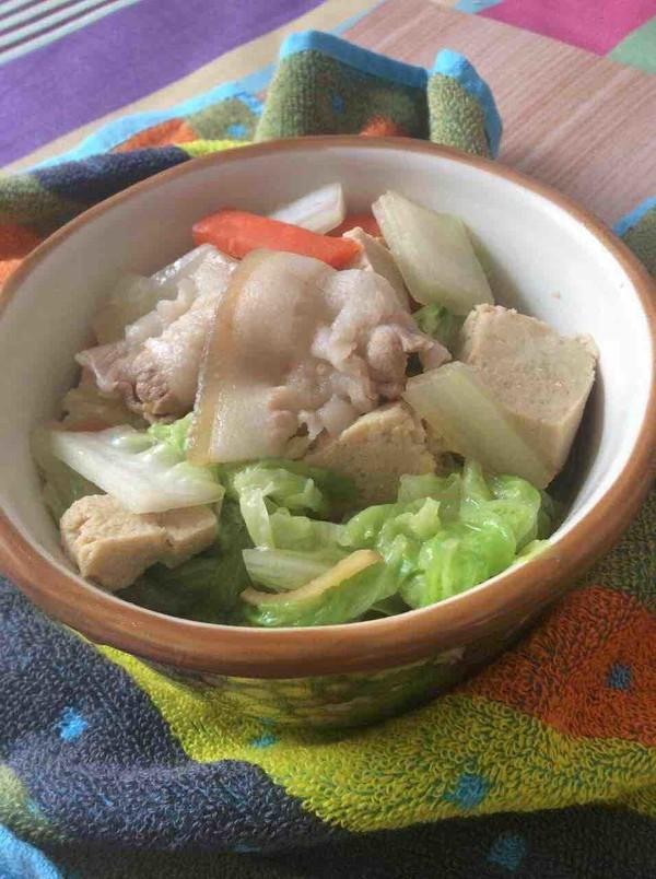 大白菜炖冻豆腐怎么煸