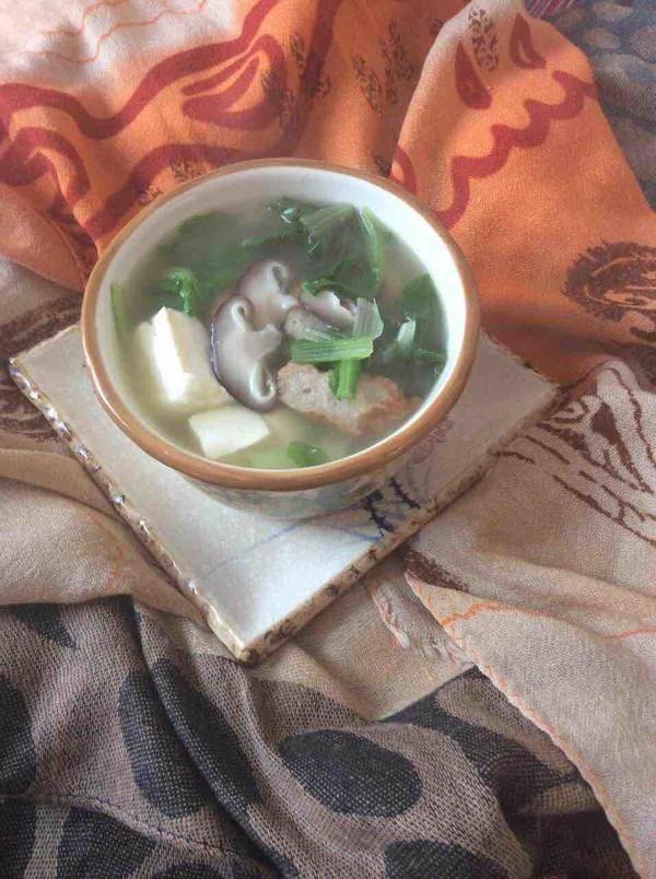 小白菜豆腐汤怎么炒