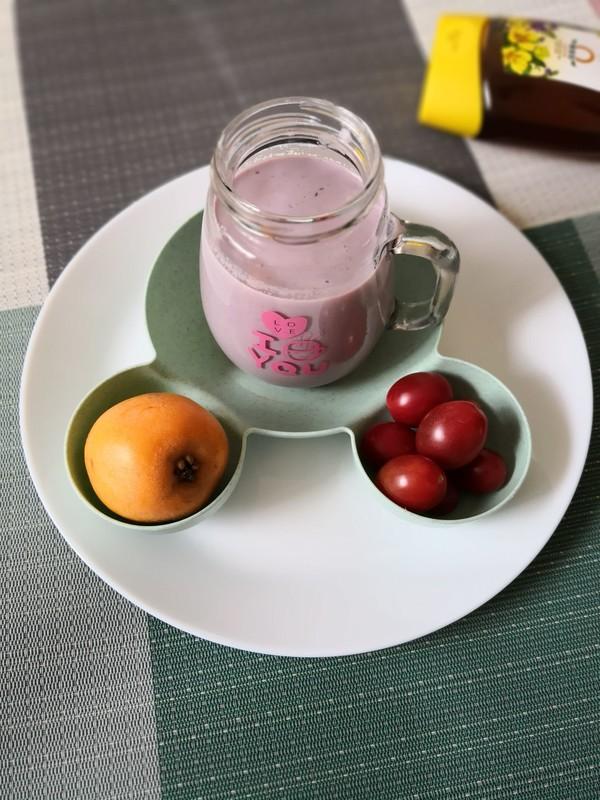 炎炎夏日最爱还是~紫薯奶昔成品图