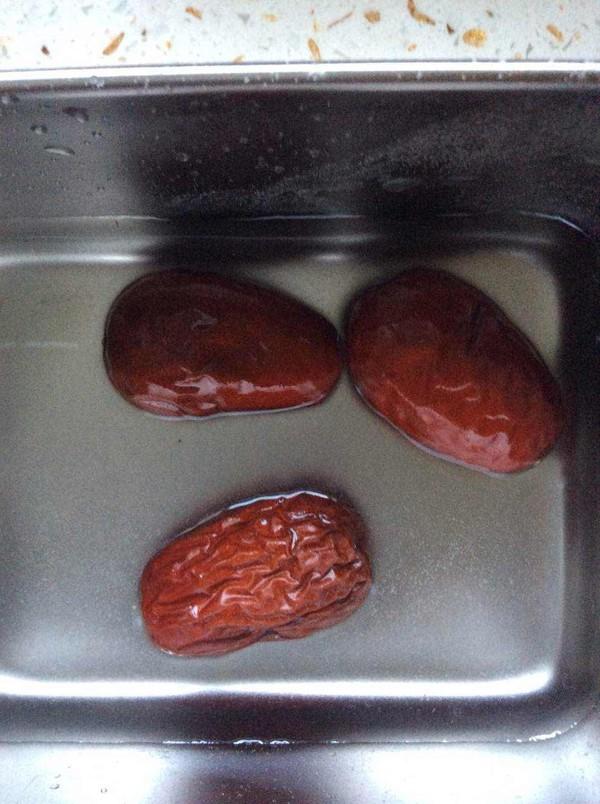 大黄米红枣糊的步骤