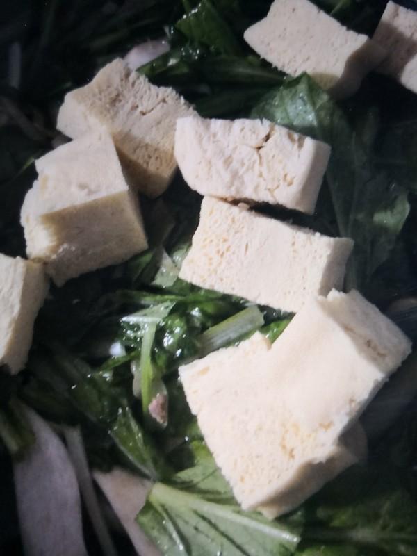 小白菜冻豆腐怎么煮