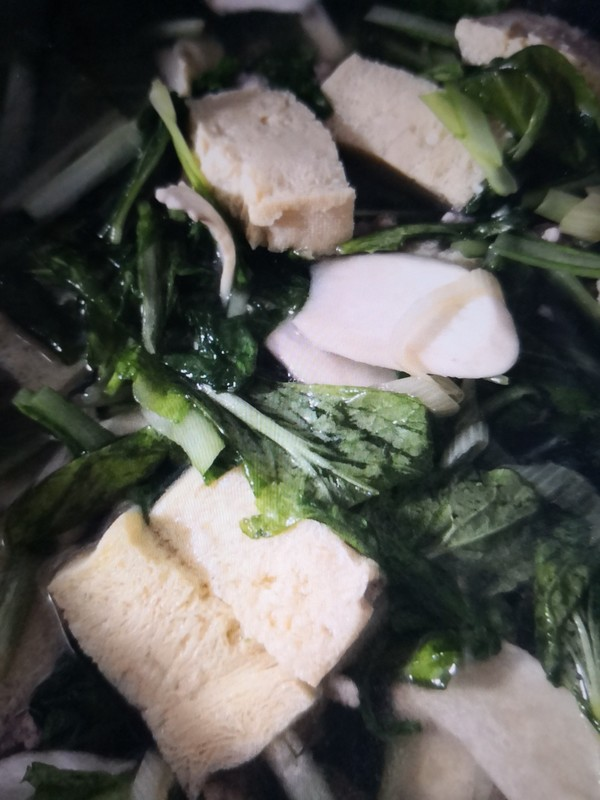 小白菜冻豆腐怎么炖