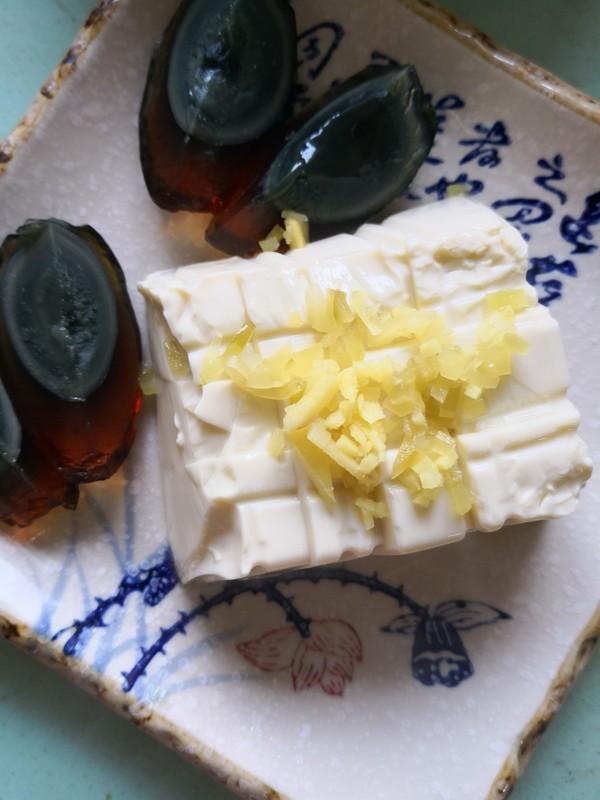 榨菜丝皮蛋豆腐怎么吃