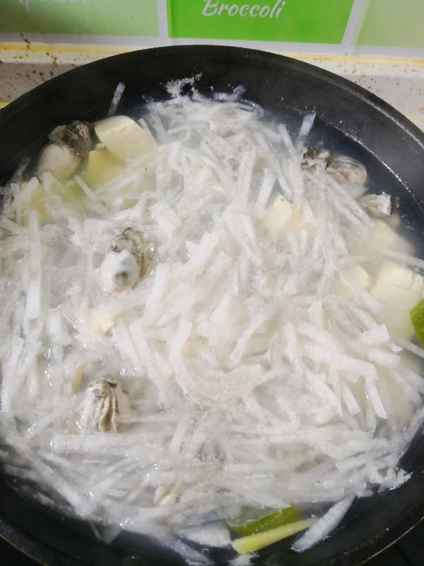 蛎蝗萝卜豆腐汤怎么炖