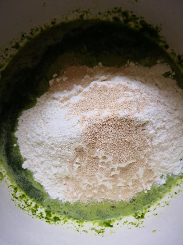 菠菜汁大馒头的简单做法
